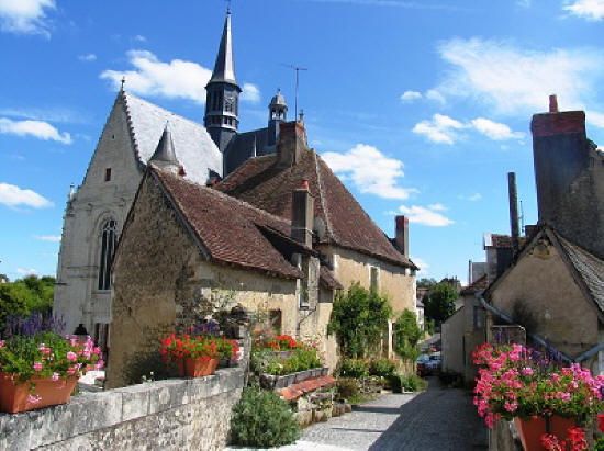 the beautiful village of Montresor in the Loire Valley France