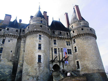 Facade of Chateau de Langeais in the Loire Valley