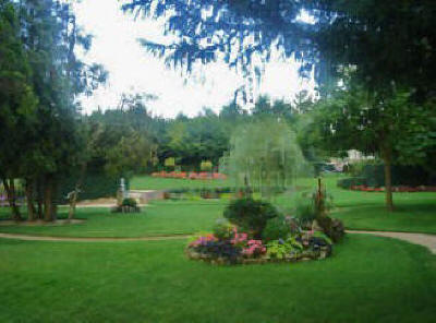 beautiful gardens at  Descartes in Indre et Loire, France