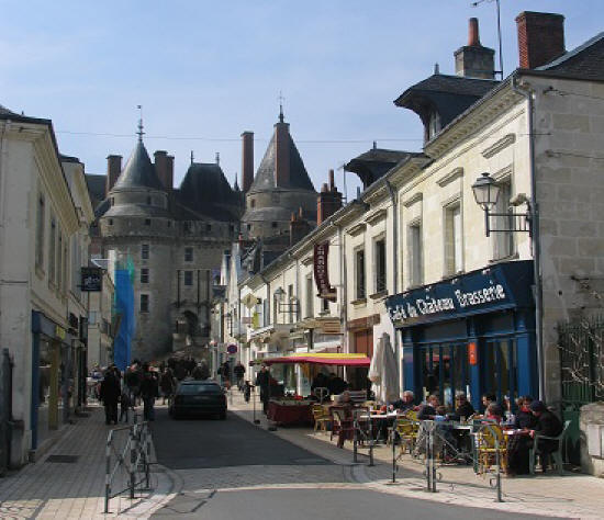 Looking up the street towards Chateau de Langeais