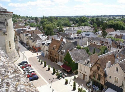 Amboise street from the castle ramparts.