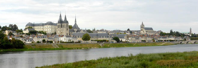 View of Blois over the river Blois