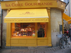 sweet shop in Tours,Loire Valley,France.