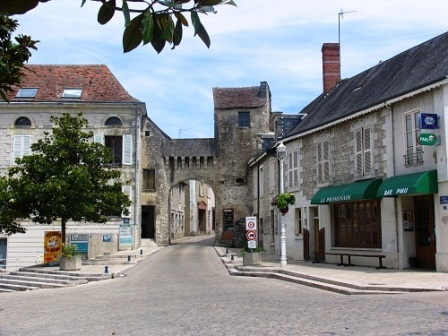 The gate leading into the town of La RochePosay