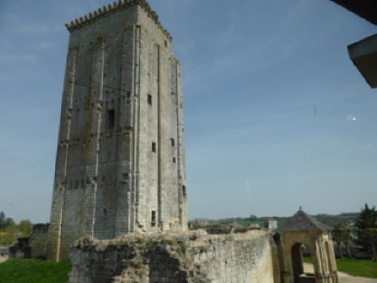 the keep at the chateau in Le Grand Pressigny
