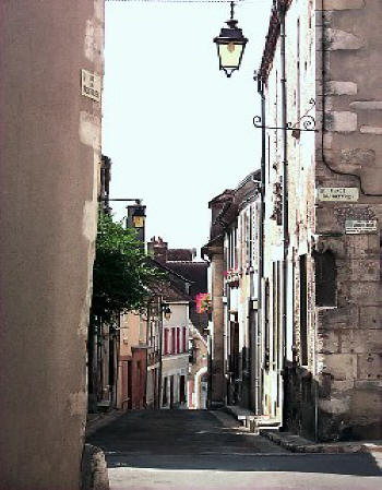 pituresque street in Sancerre