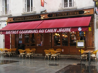 yellow dog restaurant in Tours Loire Valley