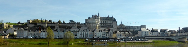 Chateau d'Amboise as seen from Ile d'Or
