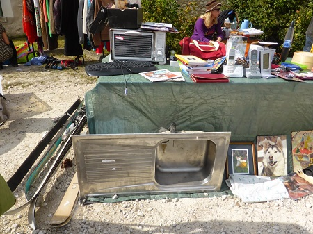 Kitchen sink at brocante