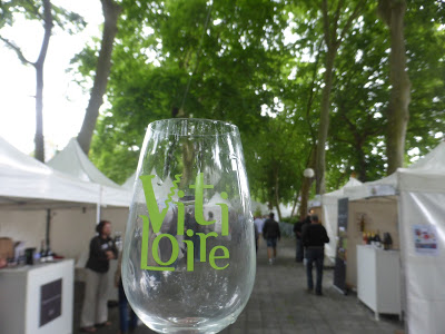 Tents at the Vitaloire wine fare in Tours France