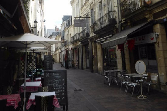 Rue Colbert in Tours France