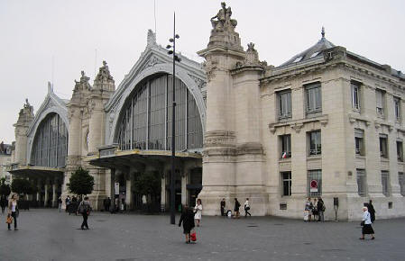 Railway station in the city of Tours in the Loire Valley