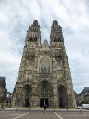 Cathedrale St-Gatien in the city of Tours in the Loire Valley