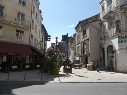 Wide pedestrian street in Blois in the Loire Valley