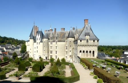 The formal gadens at Chateau de Langeais in the Loire Valley