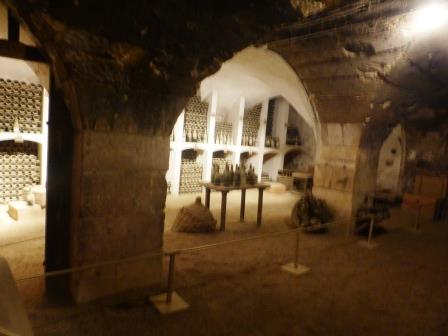 wine cellar at Chateau de Valencay France