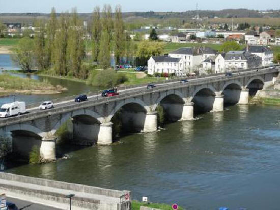 Bridge over theriver Loire at Amboise