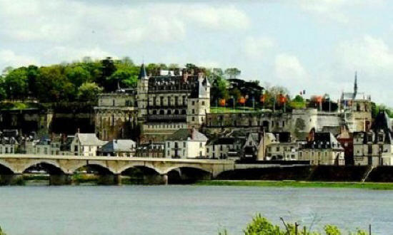 The town of Amboise on the river Loire