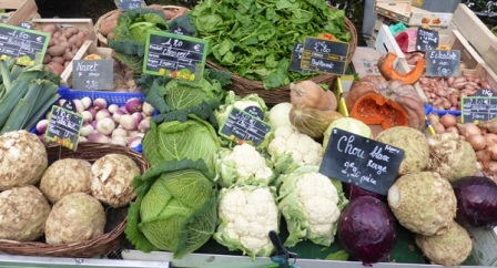 Vegetables at the market in Amboise in the Loire Valley