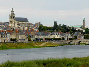 Blois on the banks of the river Loire
