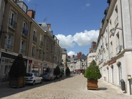 Wide street in Blois in the Loire Valley