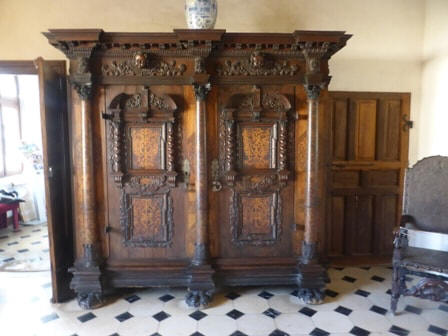 large cabinet in Chateau Beauregard in the Loire Valley,France