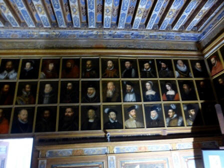 some examples in Portrait gallery in Chateau Beauregard in the Loire Valley in France