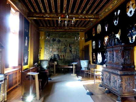 second  Portrait gallery in Chateau Beauregard in the Loire Valley in France