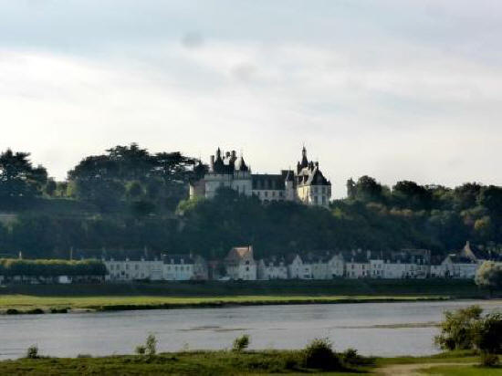 Chateau de Chaumont-sur-Loire in the Loire Vally in France viewed from across the river