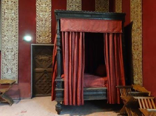 Bedroom at Chateau de Chambord in the Loire Valley