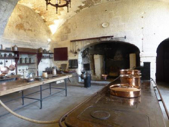 kitchen at Chateau de Valencay France