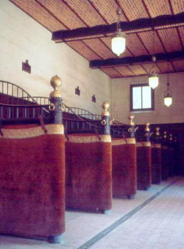 The plush interior of the stables at Chateau de Chaumont-sur-Loire in the Loire Vally in France