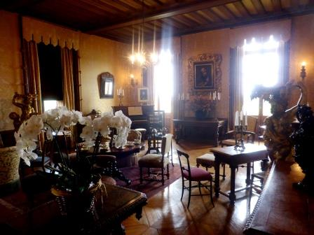 Parlour at Chateau de Chaumont-sur-Loire in the Loire Vally in France