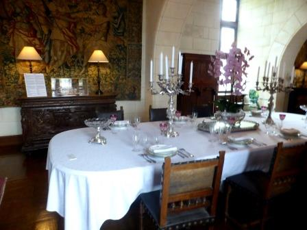 Diningroom at Chateau de Chaumont-sur-Loire in the Loire Vally in France