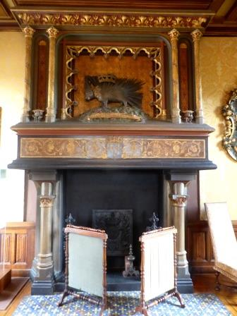 Fireplace at Chateau de Chaumont-sur-Loire in the Loire Vally in France