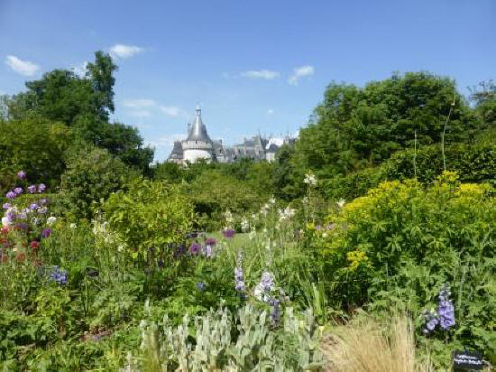 the gardens at Chateau de Chaumont-sur-Loire in the Loire Vally in France