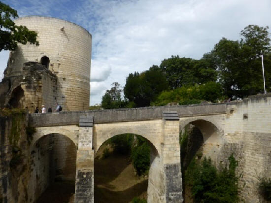 Coudray tower at Fortress Chinon in the Loire Valley
