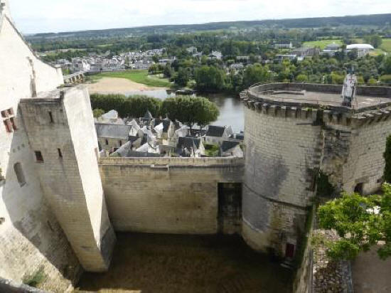 Tour de Boissy at Fortress Chinon in the Loire Valley