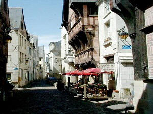 Medieval town of Chinon in the loire Valley