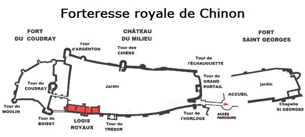 Plan of the fortress at Chinon