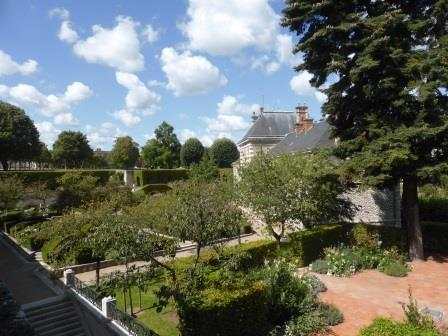 Bishop's garden in  Blois in the Loire Valley
