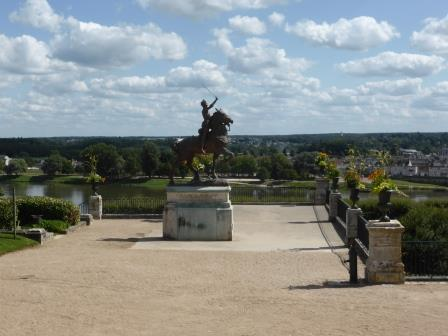 Statue of Joan of Arc on horseback in Blois