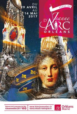 Poster advertising Joan of Arc festival in Orleans France 2017