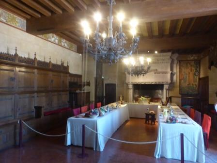 dining room at Chateau de Langeais in the Loire Valley