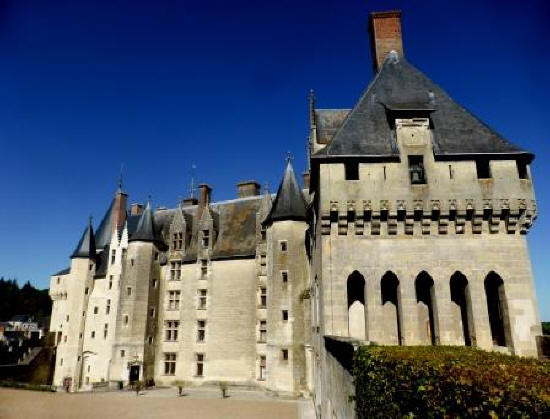 Chateau de Langeais in the Loire Valley from its gardens