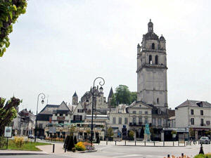 Medieval town of Loches in the Loire Valley