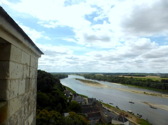 View from Chateau de Chaumont-sur-Loire in the Loire Vally in France