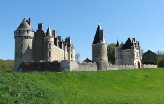 external view of Chateau d Montpoupon in the Loire Valley in France