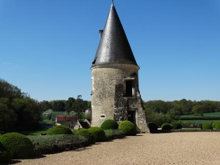 Poterne ay Chateau d Montpoupon in the Loire Valley in France