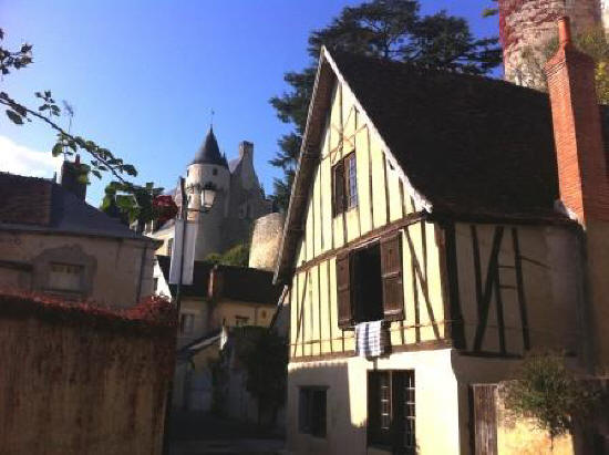 Half timbered house in Montresor France